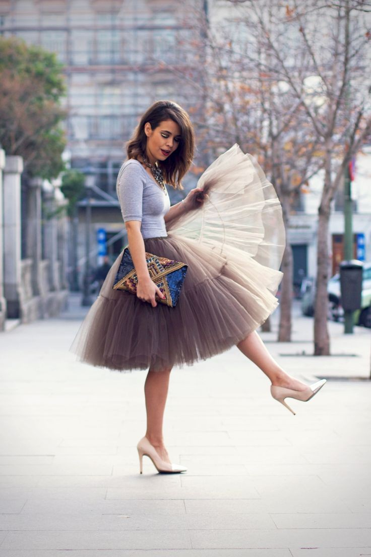 New-Elegant-2015-Summer-Style-5-Layers-Long-Celebrity-Skirts-Womens-Princess-Midi-Tutu-Tulle-Skirt